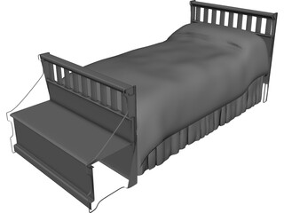Bed Childs [+Headboard and Chest] 3D Model
