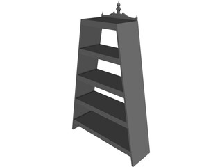 Book Shelf A-Frame 3D Model