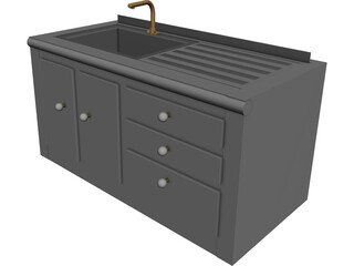 Kitchen Sink Area 3D Model