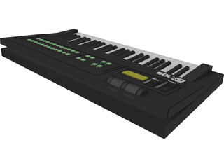 Synthesizer Yamaha DX100 3D Model