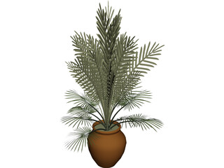 Large Potted House Plant 3D Model