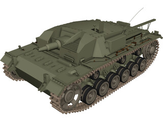 Sturmgeschuetz III 3D Model 3D Preview