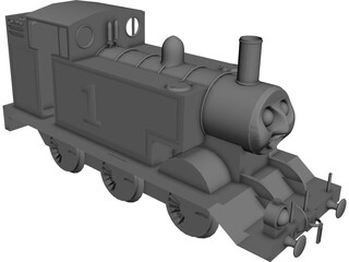 English Fantasy Tank Engine 3D Model