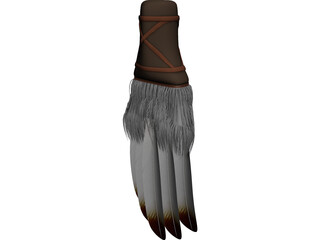 Native American Prayer Fan 3D Model