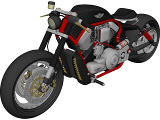 Harley-Davidson Power Bobber 3D Model