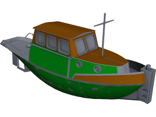 Tug Boat Sleepbootje CAD 3D Model