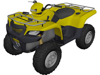 Suzuki Quad Cycle 3D Model