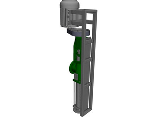 Screw Pump CAD 3D Model