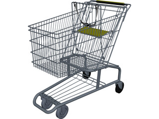 Shopping Cart CAD 3D Model