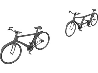 Modern Single and Tandem Bicycles 3D Model