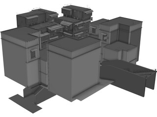 Old Chinese Buildings 3D Model