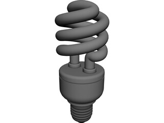 CFL Light Bulb 3D Model