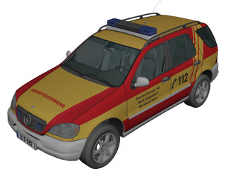 Mercedes-Benz ML 320 Feuer (1998) 3D Model