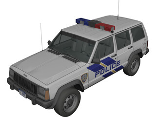 Jeep Cherokee Police 3D Model