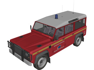 Land Rover Defender 110 Fire 3D Model