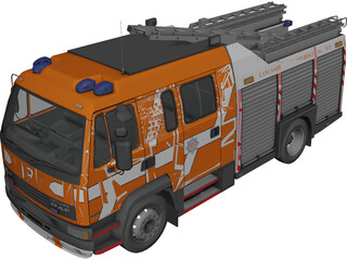 DAF Leyland 55 Fire 3D Model