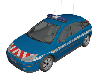 Ford Focus Gendarmerie 3D Model