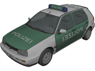 Volkswagen Golf III Polizei 3D Model
