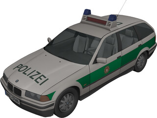 BMW 318i Combi Polizei 3D Model 3D Preview