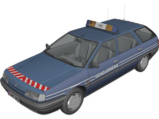 Renault 21 Nevada Gendarmerie 3D Model