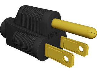 Power Plug CAD 3D Model