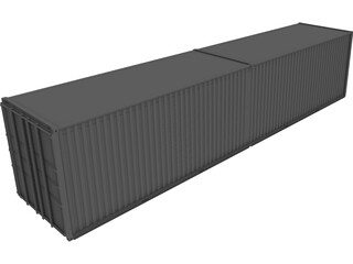 Shipping Container 40 3D Model