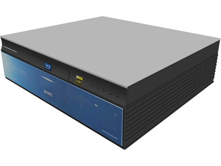 Sony Blu-ray Player 3D Model