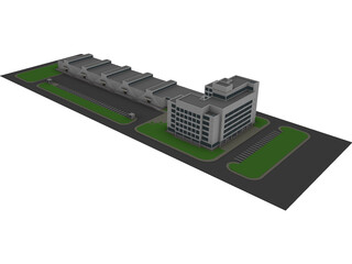 Logistic Company Complex 3D Model