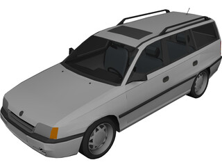 Opel Kadett E Caravan 3D Model 3D Preview