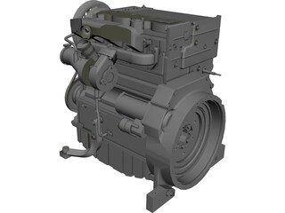 Engine Deutz Turbo Diesel (2011) [NURBS] 3D Model