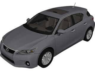 Lexus CT200h (2012) 3D Model