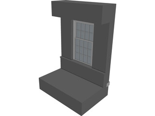 Double Hung Window and Shutter 3D Model