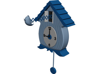 Plastic Cuckoo Clock 3D Model