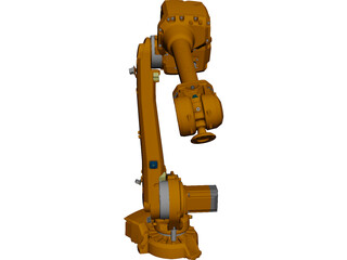 ABB IRB4600 Indistrial Robot 3D Model 3D Preview