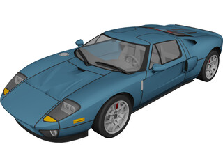 Ford GT40 (2009) 3D Model