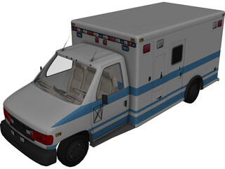 Ambulance 3D Model 3D Preview