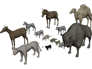 Animals Collection 3D Model