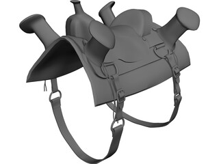 Celtic Saddle 3D Model