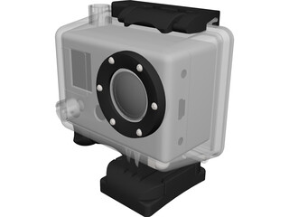 GoPro Hero Camera CAD 3D Model