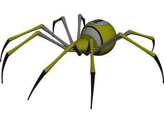 9ball Spider CAD 3D Model
