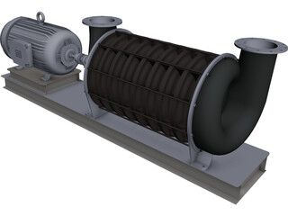 HSI Centrifugal Blower CAD 3D Model