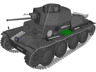 Panzer 38 3D Model 3D Preview
