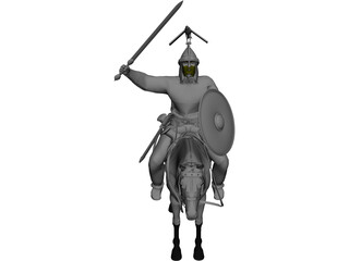 Celtic Noble Cavalry 3D Model