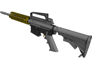 AR-15 Rifle CAD 3D Model