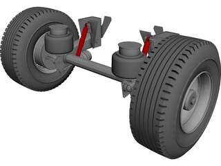 Hendrickson Suspension CAD 3D Model