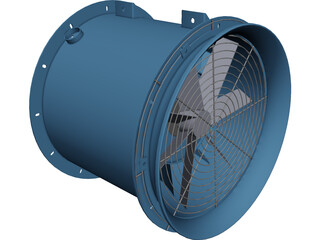 Industrial Fan CAD 3D Model