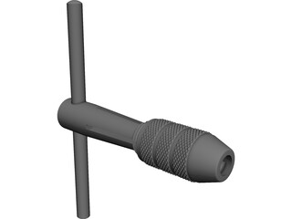 Chuck Tap Wrench CAD 3D Model