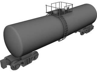 Tanker Rail Car CAD 3D Model