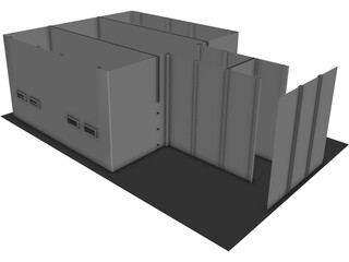 Police Holding Cell 3D Model