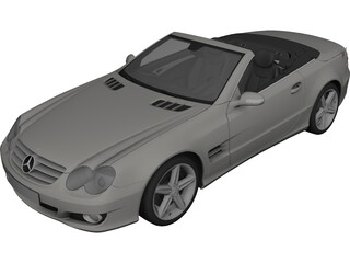 Mercedes-Benz SL500 (2009) 3D Model